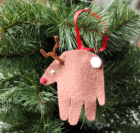 Holiday Bell and Reindeer Paper Ornaments (Printable Activity for