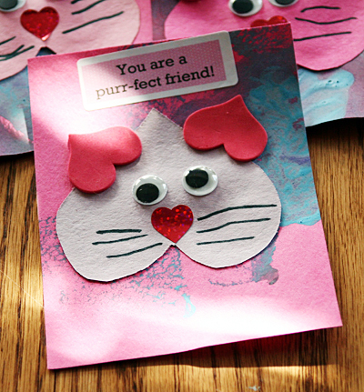 homemade kitty valentine