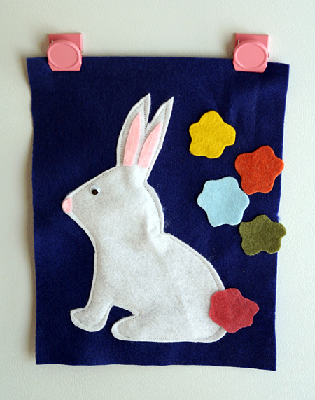 DIY Felt Pin the Tail on the Bunny