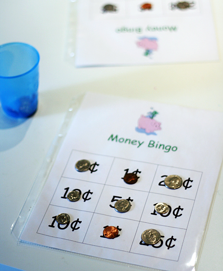 Printable Money Bingo for Kids
