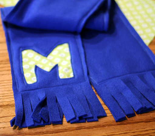 Post image for Monogrammed Fleece Scarf