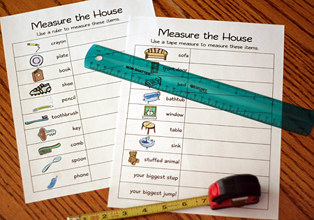 measure the house printable