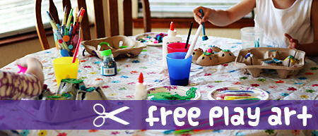 free play art for kids