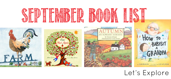 September Book List for Kids