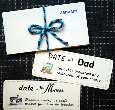 parent/child date coupons