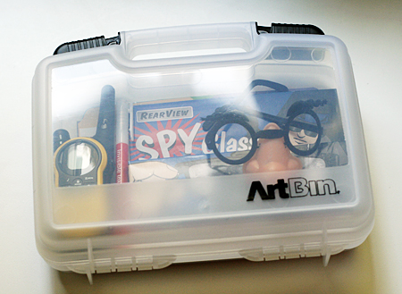 detective/spy kit briefcase