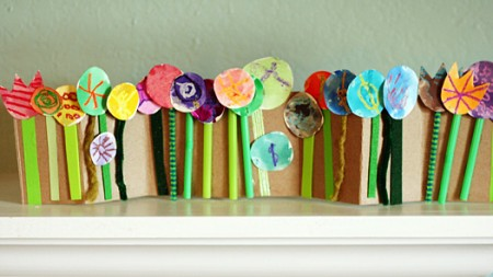 spring flower collage craft