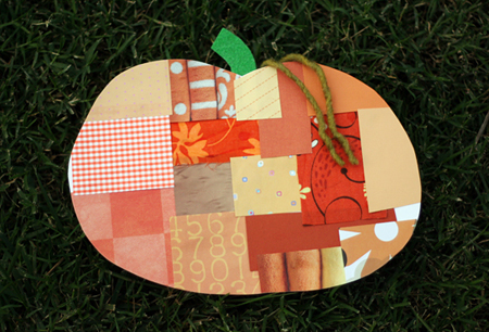 Craft a patchwork pumpkin | Let's Explore