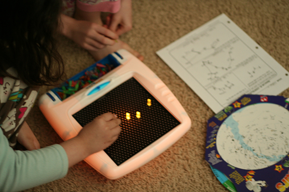 Making constellations with a Lite-Brite