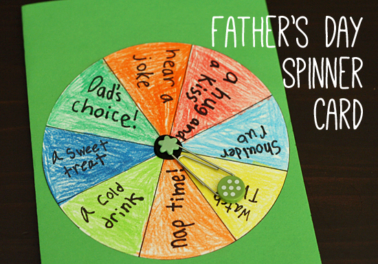 Father's Day Spinner Card | Let's Explore