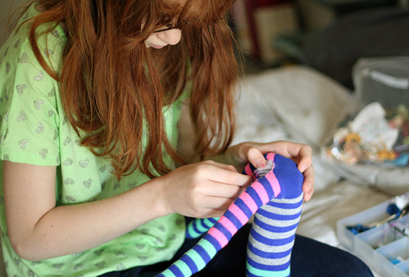 Sock monkey sewing project