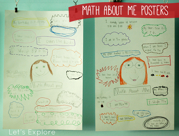 Math About Me Posters